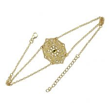 18ct Gold Plated Mandala Choker Necklace | Lucy Ashton