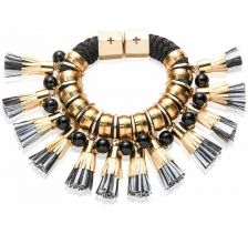 Holts + Lee Midnight Storm Nylon Tassel Bracelet