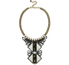 NOCTURNE Pale Grey Tiebele Pendant Necklace
