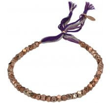 Nugget Slide Rose Gold Bracelet