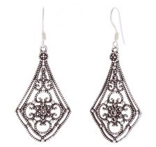 POTC Jewellery Ornate Oxidised Drop Earrings