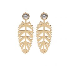 Palmera Earrings Rose Gold Over Silver | Afew Jewels