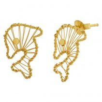 POTC Jewellery Gold Plated Dolphin Stud Earrings
