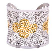 POTC Jewellery Gold Plated Filigree Cuff With Crystals