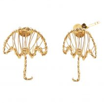 POTC Jewellery Gold Plated Umbrella Stud Earrings