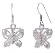 POTC Jewellery Silver Tone Butterlfy Drop Earrings