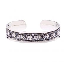 POTC Oxidised Cuff With Elephant Design