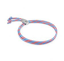 Project-RWB Red White and Blue Pembroke Silver and Rope Bracelet | ANDREW AND CREW