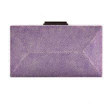 Pruple Diamond Clutch Stingray Leather | NAMU