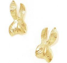 Tulola Rabbit Studs Gold Earrings