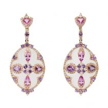 Rock Crystal and Sapphire Earrings | Ri Noor Jewelry