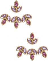Eddera Romy Amethyst and Pink Tourmaline Ear Jacket Earrings