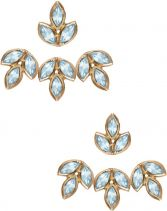 Eddera Romy Aquamarine Ear Jacket Earrings