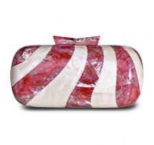 Sadie Red Abalone White Kabebe Clutch