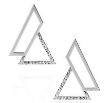 Silver Triangle Earrings | OSYLIA London
