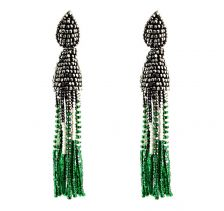 Tesoro Beige Emerald Earrings | Begada