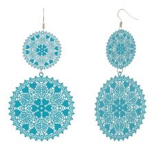 POTC Jewellery - Turquoise Brass Lacework Earrings