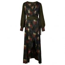 VERDANT Jacquard Wrap Maxi Dress