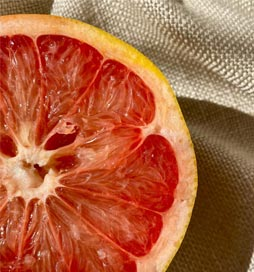 Zesty, bitter sweet, inspiring and wonderful for flushing out our pores and feeding our skin cells with a great array of antioxidants and anti inflammatory agents through its impact on our cell signalling pathways. Li Organic's grapefruit is harvested from its lovely sub-tropical tree that grows 30 to 50 feet in height. Fragrant white flowers bloom and develop into large orangey-yellow fruits. The peel is then removed and cold pressed to extract its precious oil to finally be included in optimal amounts in our formulas. Discover Li Organic's full range at ilovedesigner.com.