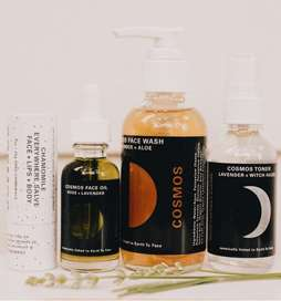 "Starting Monday with @cosmosbotanicals The brand is a brainchild of California-based herbalists Sarah Buscho and Marina Storm who have designed a diffusion line where the brand consists of four core products that lay the foundation for a natural skincare routine: a lavender and aloe face wash, with a hazel toner, rose facial oil, and a botanical 'everywhere' salve. Did you know that ""Cosmos"" is the Latin root of the word ""cosmetics "". ."